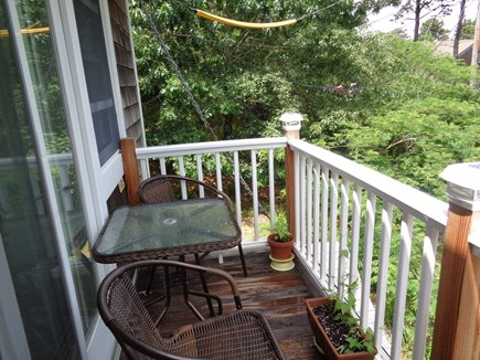 Wellfleet Cape Cod vacation rental - NIce little porch for morning coffee