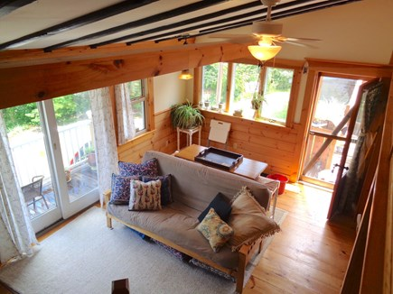 Wellfleet Cape Cod vacation rental - Living room with sliders out to porch