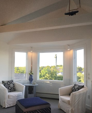 Provincetown Cape Cod vacation rental - Bay window sitting area w views of Town and Pilgrim  Monument.