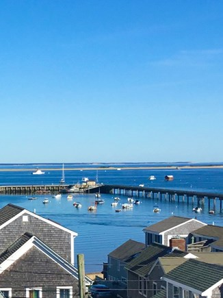 Provincetown Cape Cod vacation rental - View of Coast Guard Pier from your private deck.