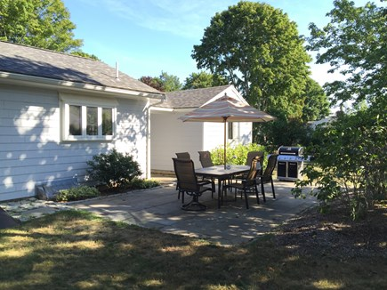 Falmouth Village Cape Cod vacation rental - Spacious back yard with enclosed outdoor shower