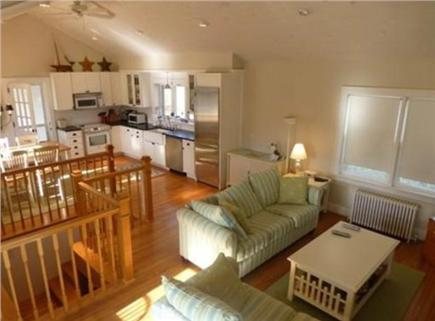 Falmouth Village Cape Cod vacation rental - Open floor plan with eat-in kitchen and living room