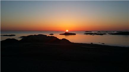 Scituate MA vacation rental - If an early riser, you will see this sunrise off the side porch!
