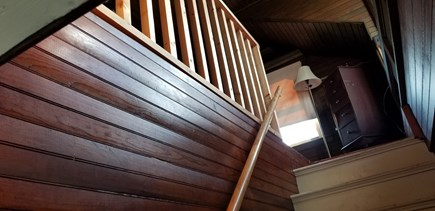 Scituate MA vacation rental - Stairs to loft area and through to bedroom