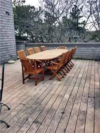 Provincetown Cape Cod vacation rental - Teak dining on Deck