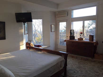 Provincetown Cape Cod vacation rental - Master Bedroom with direct access to Deck