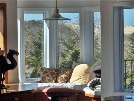 Provincetown Cape Cod vacation rental - Living room conversation nook overlooking dunes