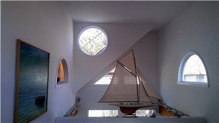 Provincetown Cape Cod vacation rental - Sailboat on Cathedral ceiling over dining area