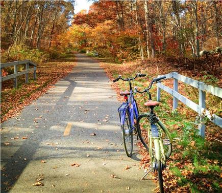 Dennis Cape Cod vacation rental - Biking on the Cape Cod Rail Trail
