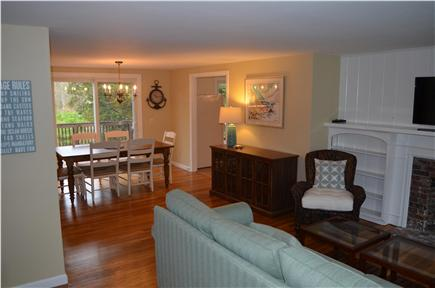 Dennis Cape Cod vacation rental - View of the open living/dining area.