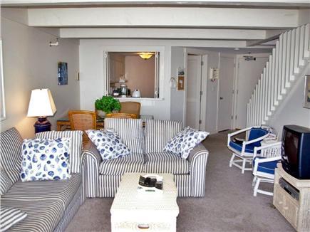 Mashpee, New Seabury Cape Cod vacation rental - Living area on middle level with sleep sofa