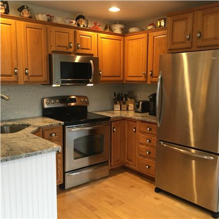 Sandwich Cape Cod vacation rental - Updated Kitchen with granite counters & stainless appliances.