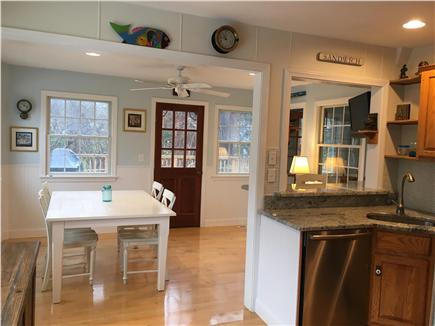 Sandwich Cape Cod vacation rental - Kitchen opens to Dining area.
