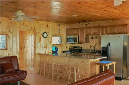 Sagamore Beach, Sandwich Sagamore Beach vacation rental - Kitchen w/granite counters, bar seating & stainless appliances.