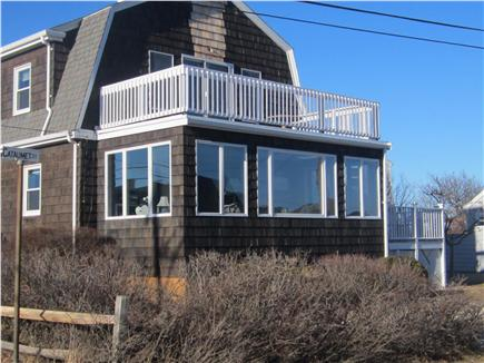 Falmouth Cape Cod vacation rental - South facing sun porch and deck off the master bedroom