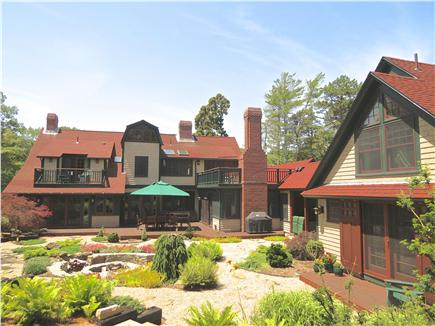 Orleans Cape Cod vacation rental - Magnificent center courtyard, large fire pit at the center