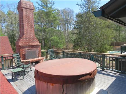 Orleans Cape Cod vacation rental - Spa and fireplace deck just off the master