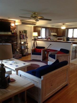 N FALMOUTH Cape Cod vacation rental - Main living area and kitchen.