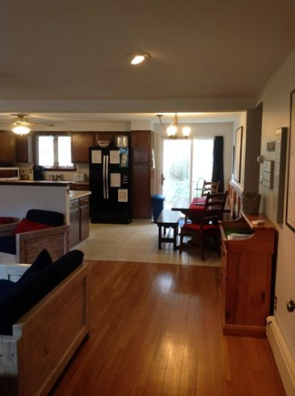 N FALMOUTH Cape Cod vacation rental - View towards the kitchen showing the open floor plan.