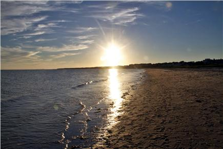 Harwich Port Cape Cod vacation rental - Bank St Beach (3/10's mile away) at Sunset