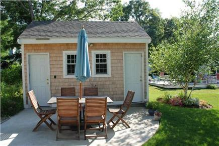 Sandwich Cape Cod vacation rental - Back Shed with Table and Chairs