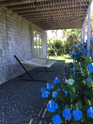 East Dennis, Sesuit Harbor Cape Cod vacation rental - Shaded area under deck