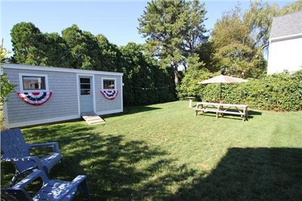 Sandwich Cape Cod vacation rental - Back Yard w/ Shed