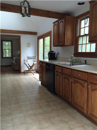 Truro Cape Cod vacation rental - Kitchen ~ 20' X 12' tile floor, cathedral ceiling w/skylights