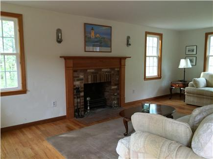 Truro Cape Cod vacation rental - Family RM w/sofa, loveseat, chair & working fireplace