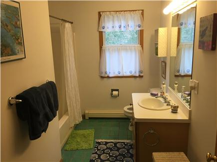 Wellfleet Cape Cod vacation rental - Upstairs bathroom with bath and shower