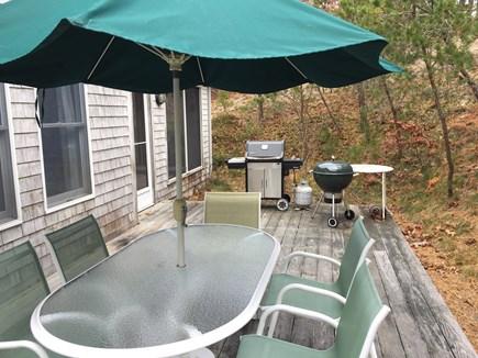 Wellfleet Cape Cod vacation rental - Back Deck