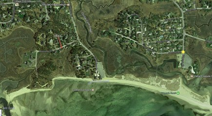 South Chatham Cape Cod vacation rental - Aerial view. That is just under a mile of nice beach!