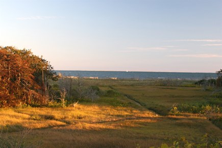 South Chatham Cape Cod vacation rental - As the sun goes down, the view evolves!