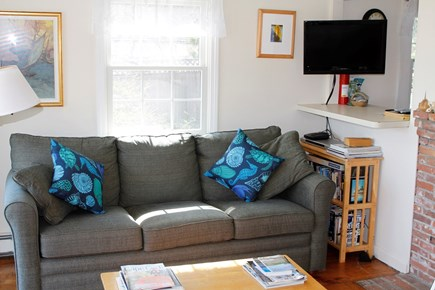 South Chatham Cape Cod vacation rental - A comfy couch with an ocean view!