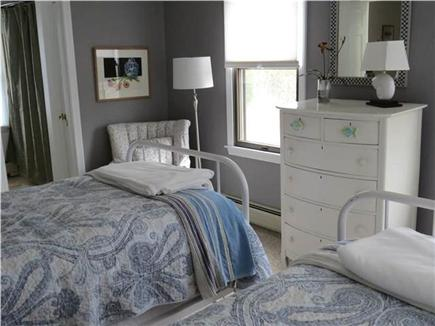 Eastham Cape Cod vacation rental - Twin bedroom with backyard views & private access to bathroom