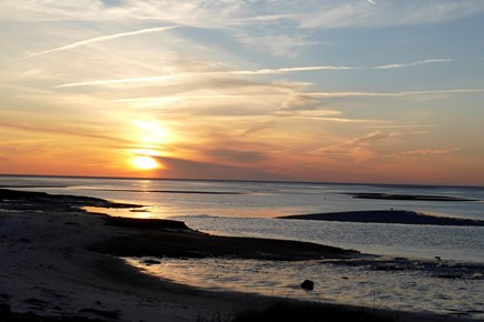 Eastham Cape Cod vacation rental - Sunset at Boat Meadow Beach - 1/3 mile from our house