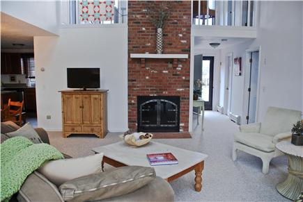 Eastham Cape Cod vacation rental - Cozy up on the couch to watch TV or enjoy the fire