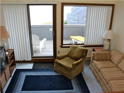 Hyannis Cape Cod vacation rental - Den with balcony overlooking the water