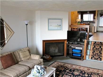 Hyannis Cape Cod vacation rental - Living room with fireplace and flat screen TV