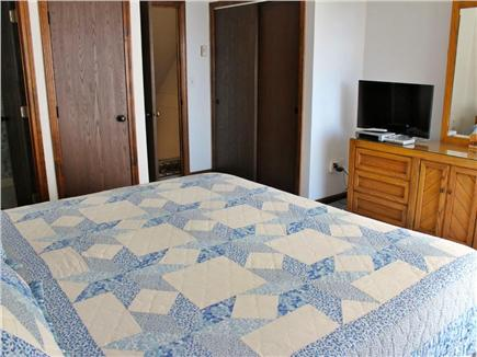Hyannis Cape Cod vacation rental - 2nd view of the Master Bedroom with TV