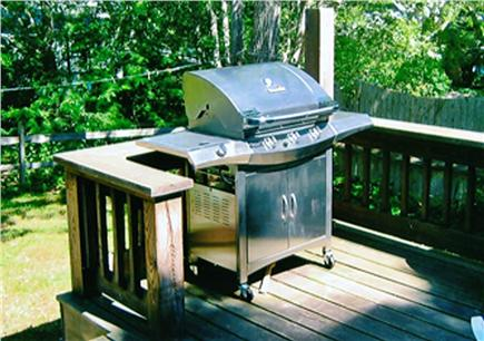 South Chatham Cape Cod vacation rental - A big Weber grill feeds the army.