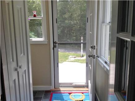 Cotuit Cotuit vacation rental - Front door view to vacant lot across the street