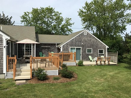 Eastham Cape Cod vacation rental - Lge deck off of main house & guest apt w/ oversized picnic table!