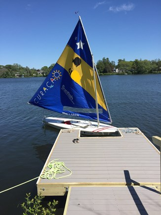Falmouth Cape Cod vacation rental - Pond and dock are perfect for small sailboats