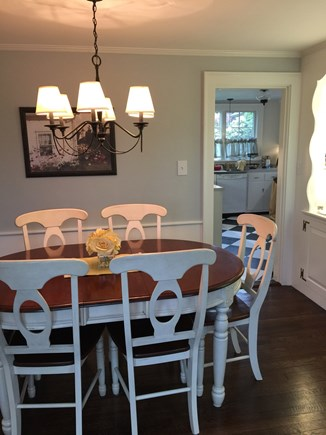 Falmouth Cape Cod vacation rental - Dining room with French doors to patio and water view