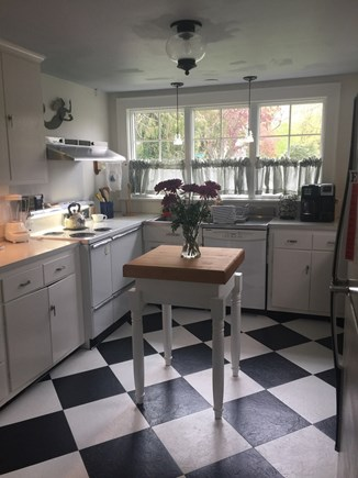 Falmouth Cape Cod vacation rental - Fully equipped kitchen with butcher block table
