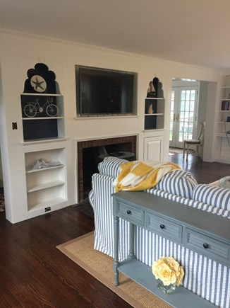 Falmouth Cape Cod vacation rental - Freshly painted living room with new flat screen TV
