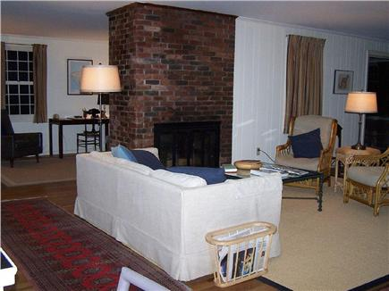Wellfleet Cape Cod vacation rental - Comfortable Living room with fireplace