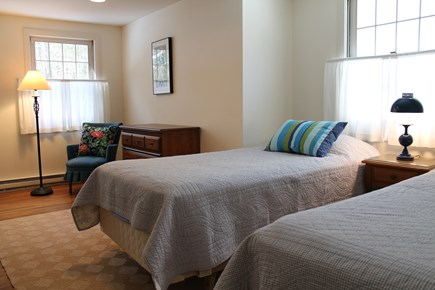 Wellfleet Cape Cod vacation rental - Second upstairs bedroom with two twin beds