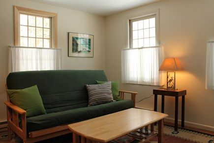 Wellfleet Cape Cod vacation rental - Other view of Library with full-sized futon.